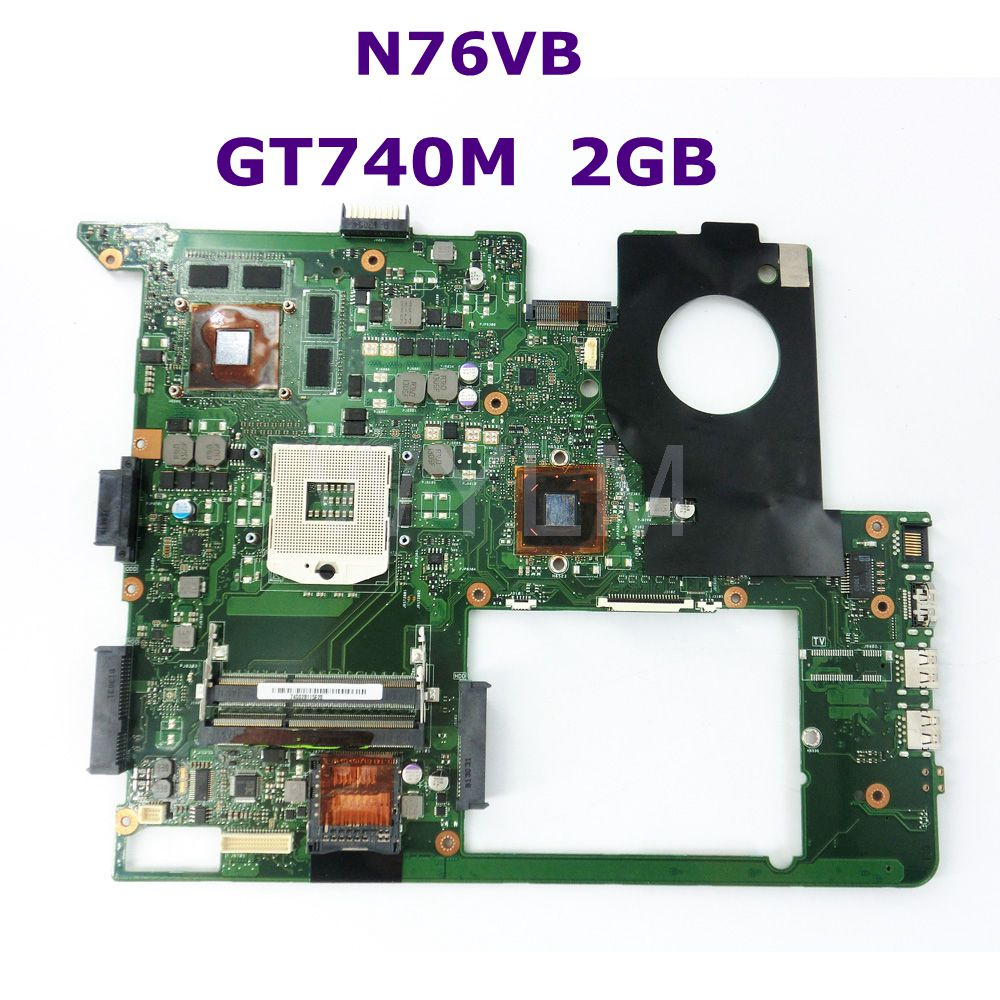 N76VB GT740M 2GB N14P-GE-OP-A2 HM76 Chipset mainboard REV 2.0 For ASUS N76VM N76VJ N76VZ N76VB Laptop Motherboard 100% Tested цена и фото