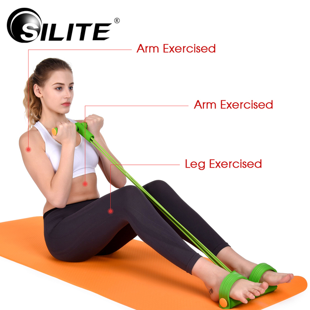 Silite Resistance Bands Leg Expander Pull Rope Fitness Equipment