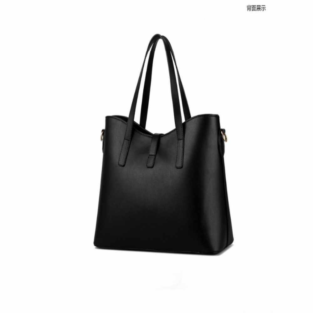 100% Hakiki deri Kadın çanta 2019 Yeni Paragraf gelgit MS kadın çantası büyük çanta basit omuz çantası çanta Messenger çanta