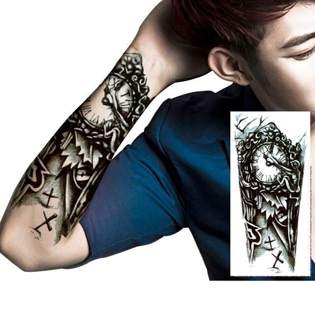 Tattoo Designs Braso: MANZILIN 5pcs/set Black Clock Designs Large Mechanical Arm