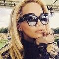 2016 New Fashion Cat Eye Sunglasses Women Brand Designer Vintage Luxury Street Snap Sun Glasses Oculos De Sol Feminino Gafas