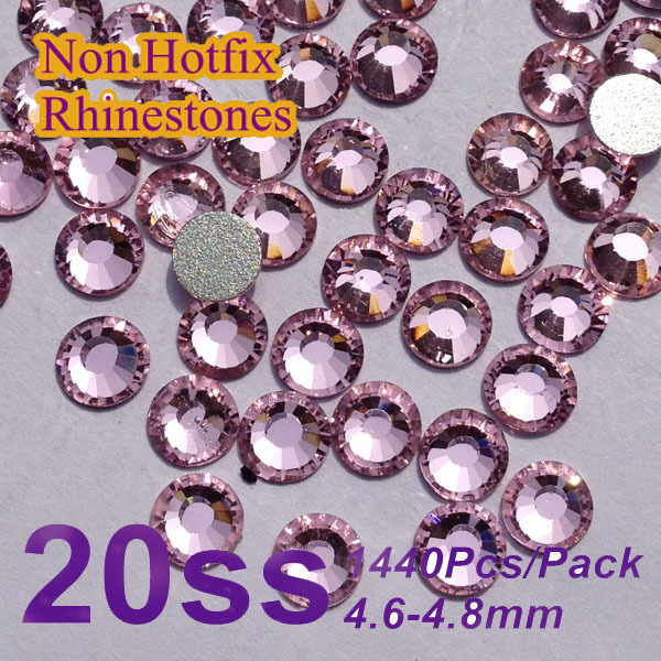 Бесплатная доставка ногтей стразами lt. Розовый цвет SS20 ( 4.8 - 5.0 мм ) 1440 шт./упак. , не исправление Flatback камни