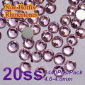 Free Shipping Nail Art Rhinestone Lt.rose Color SS20(4.8-5.0mm) 1440pcs/pack Non Hotfix Flatback Crystal Stones
