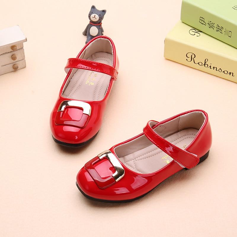 de vestir baile casuales princesa de con bowtie los niños para 2017 zapatos la zapatos de de cuero de rojo de Diseñador niñas partido zapatos moda para zqXpfS