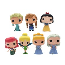 OPP 1pcs ZXZ Funko pop Princess Cinderella Tinker Bell Ariel Snow White Elsa Anna PVC Anime Movie Vinyl Cute Figure Toys