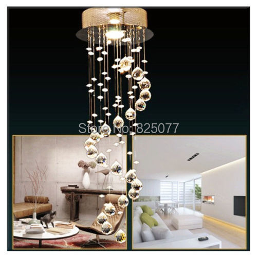 Modern Clear Waterford Spiral Sphere LED Lustre Crystal Chandelier Ceiling Lamp Home Decor Suspension Pendant Lamp Fixture CP41 цена