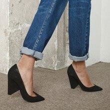 ee5f0485bf4 Sping Summer Celebrity Runway Shoes Women Slip On Spike High Heel Pumps  Sexy Ladies Footwear Pointed Toe Plain Black Suede Heels