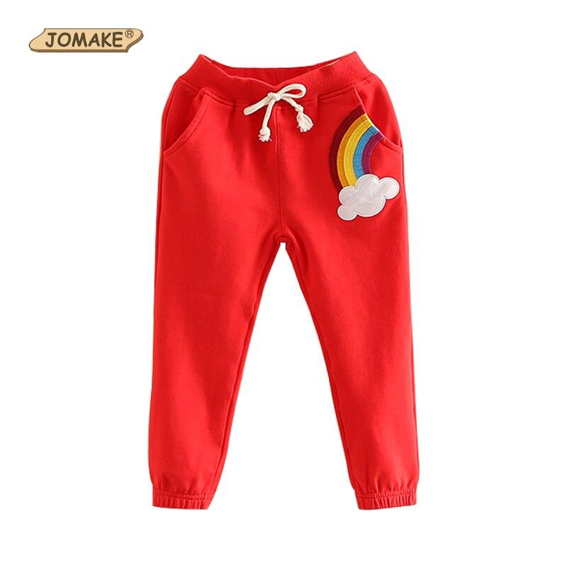 Frühling Herbst Baumwolle Regenbogen Baby Mädchen Hosen Kinder Kleidung Kinder Casual Hosen Kordelzug Jungen Hosen 2018 Kostüm Für Kinder