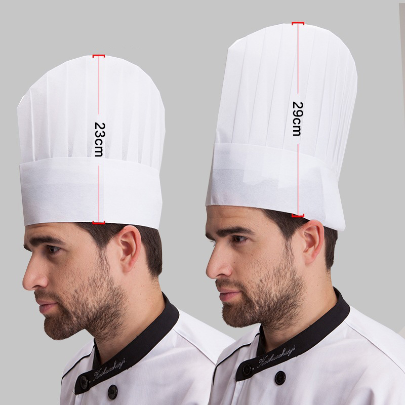 Wholesale 20Pcs/Lot Unisex Nonwoven High Middle Flat Round Hat Restaurant Hotel Kitchen Cook Work Wear Chef Hats Disposable Caps