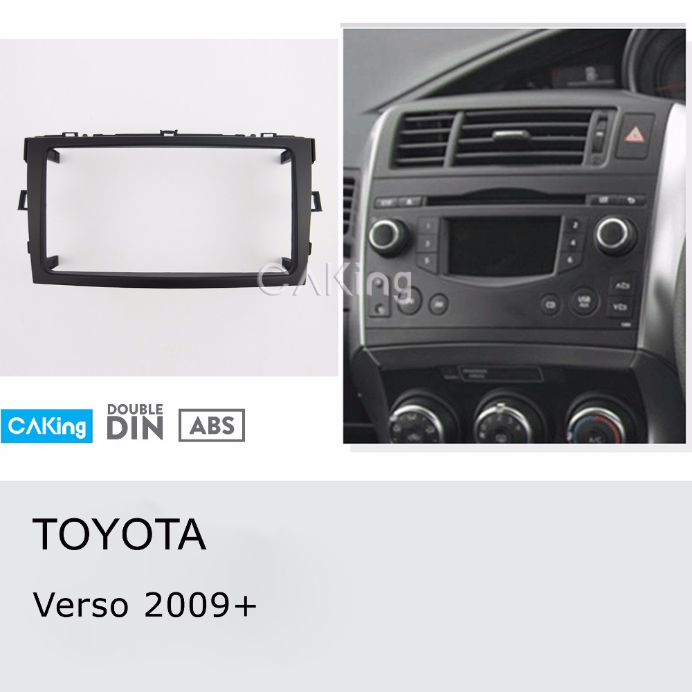 Car Fascia Radio Panel for Toyota Verso 2009 2018 Dash Fitting Kit Install Mount Console Facia