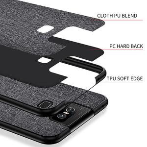 Image 4 - Cloth Hard PC Case For Asus Zenfone 6 ZS630KL Case Soft TPU Bumper Back Cover For Asus Zenfone 6Z Simple Shokcproof Case Coques
