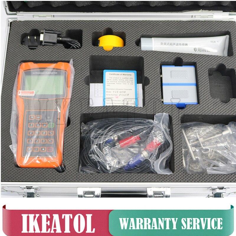 Handheld Medidor de Vazão TUF-2000H Ultrasonic Digital Medidores de Vazão Dn15-700 Milímetros TM-1 Transdutor TS-2 Frete Grátis