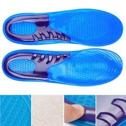 2019 1 пара унисекс силиконовая стелька ортопедическая Арка Поддержка спортивная обувь стельки Распаковка Пот-Абсорбирующие беговые