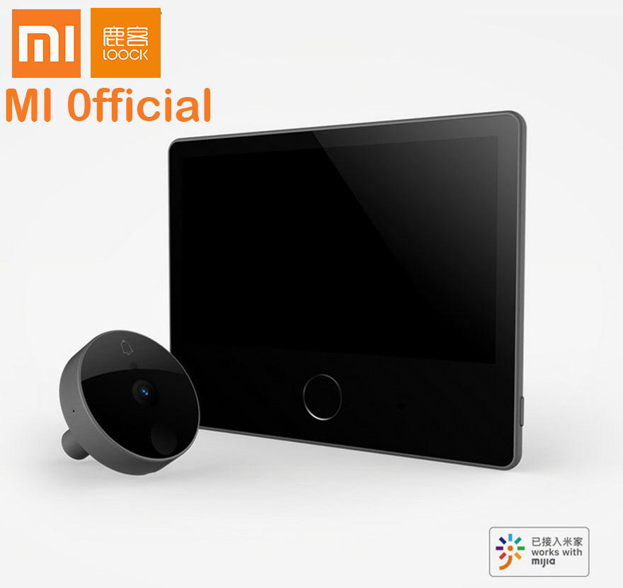 Xiaomi loock deurbel luke smart Video intercom Cat Eye Jeugd caty Gezicht detector LSC Y01 Anti diefstal deur voor ai speaker mi thuis-in slimme afstandsbediening van Consumentenelektronica op  Groep 1