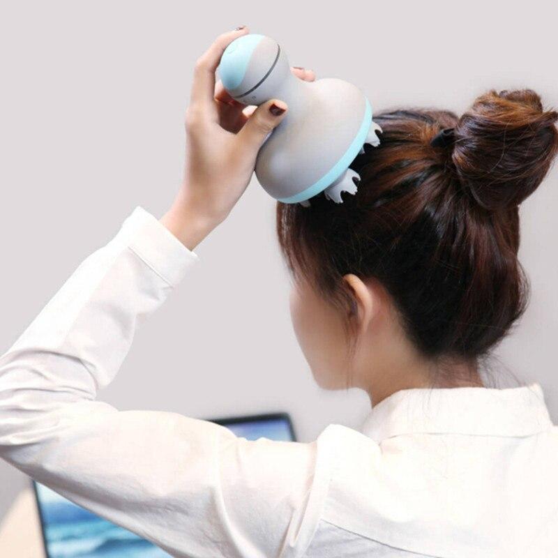Оригинальный Xiaomi Mijia мини массажер для головы 3D стерео массаж влажной и сухой 6 видов массажа ручной массажный инструмент умный дом 2