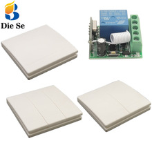 86 Wall Panel 433MHz Universal Wireless Remote Controls Switch RF Transmitter Receiver 1 2 3 Keys for Home Room Light
