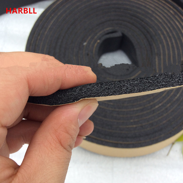 air conditioning pipe insulation. 4m car air conditioning pipes water fire-retardant foam sponge rubber insulation tape strips pipe