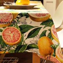 Europe pastoral luxury grapefruit print tablecloth home textile linen fabric dining table cloth tea cloth for wedding home decor