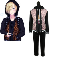 Anime Yuri On Ice Yuri Plisetsky Leopard Cosplay Costumes Halloween Cosplay Clothes New S M L