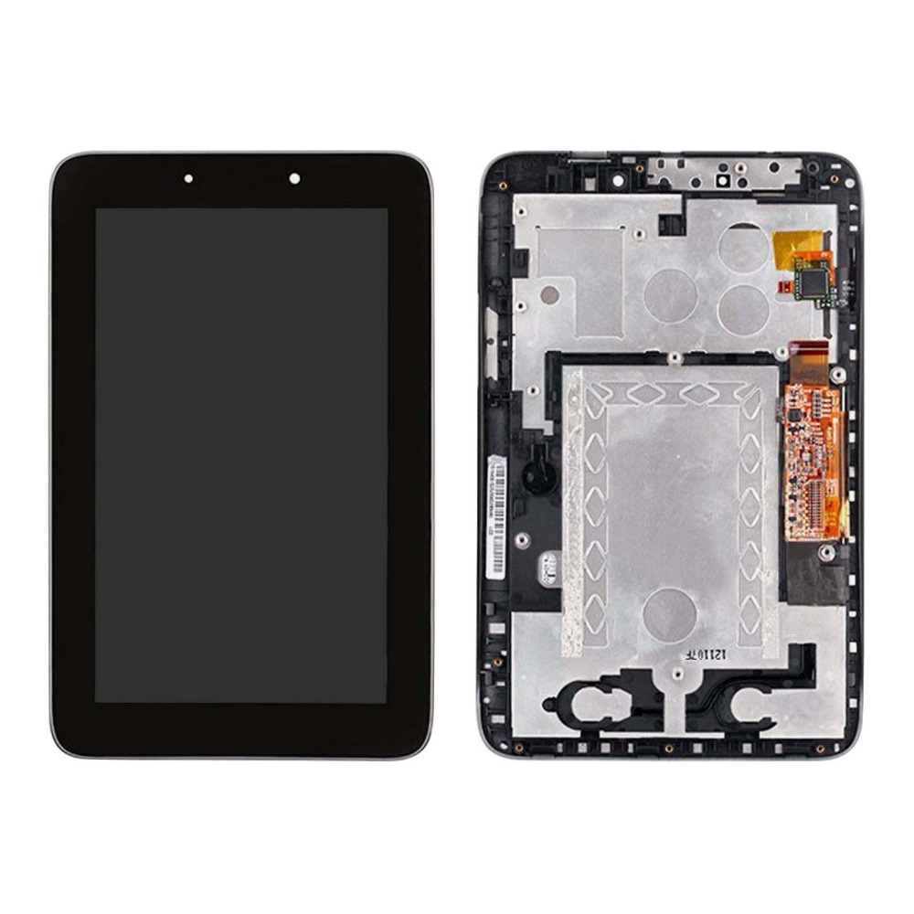 +Frame Black LCD Display + Touch Screen Digitizer Assembly Replacements FOR Lenovo IdeaTab A2107 A2207 Free shipping 1pcs free shipping for iphone 5c lcd display touch screen digitizer frame assembly black