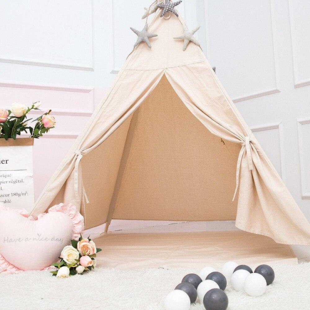 Princess Kids Teepee Play Carpa 100% algodón lienzo niños Tipi - Deportes y aire libre - foto 3