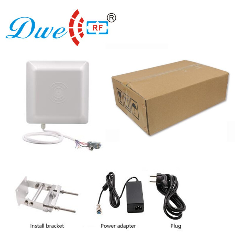 DWE CC RF rf id uhf rfid reader 3 to 8m long range with 8dbi antenna rs232 rs485 wiegand interface offer free SDK цена