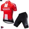 Комплект одежды для велоспорта Sunweb с коротким рукавом  гелевая подкладка 9d  быстросохнущая велосипедная форма для езды на велосипеде на отк...