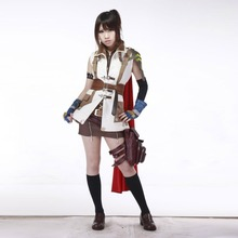 Final Fantasy 13 the Guardian Corps Lightning Cosplay Costume Military Costume Halloween Costumes for Women