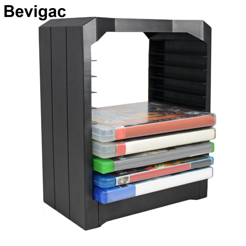 Bevigac Universal Games Discs Storage Tower Holder Organizer Rack For PS4 Slim PS3 PS2 XBOX ONE S X 360 Accessories Gadgets