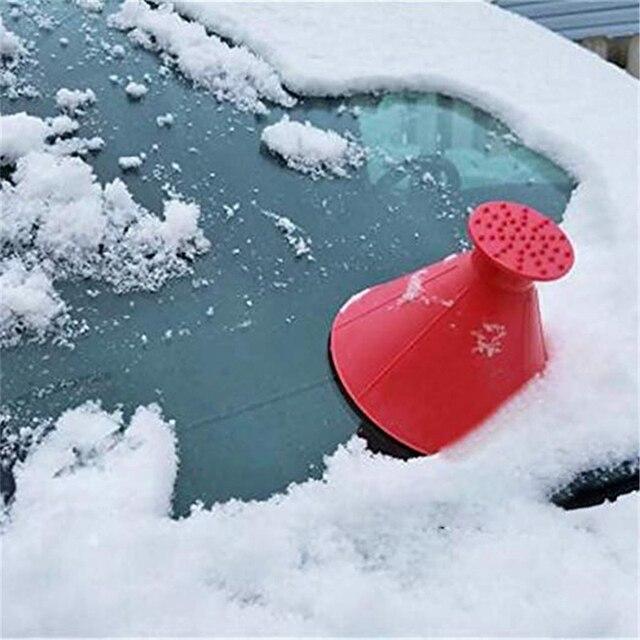 Magic Window Windshield Car Window Ice Scraper Cone Shaped Funnel Snow Remover Tool Scrape A Round Window Cleaner Glass Wiper 3