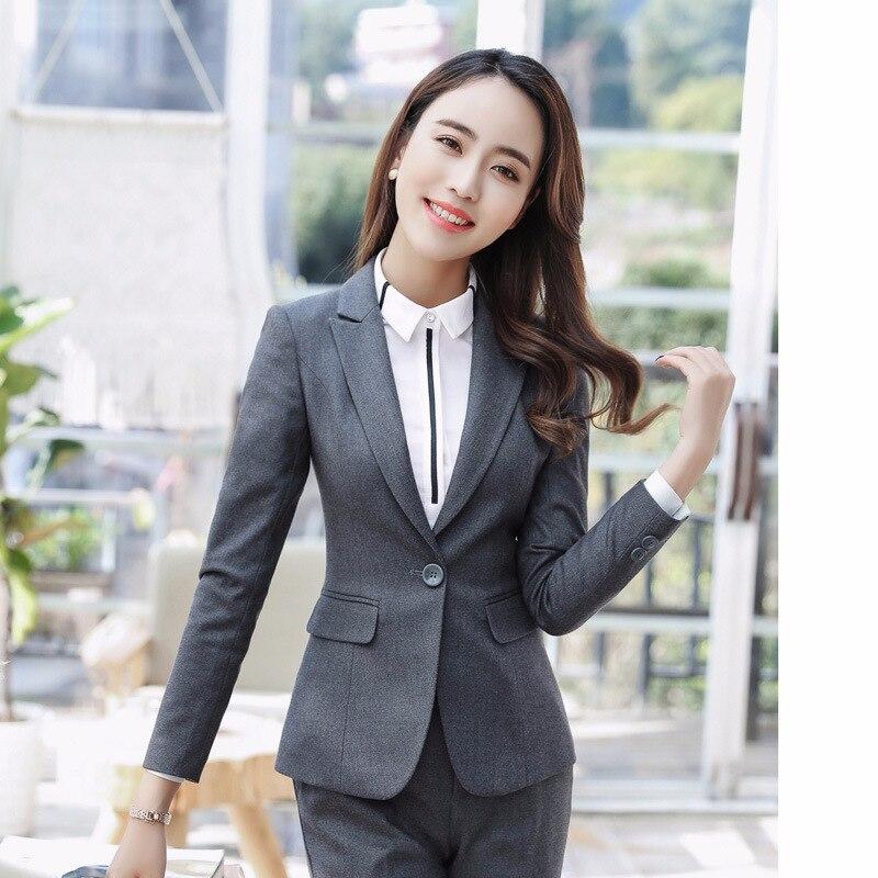 Aufrichtig Mode Herbst Frauen Blazer Jacken Arbeit Büro Dame Anzug Slim Schwarz Business Weibliche Blazer Mantel Hohe Qualität Elegante Mode GroßEs Sortiment