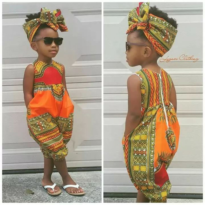 2019 New Style Infant Baby Girls Kids African Jumpsuit ClothesToddler  Rompers Outfit