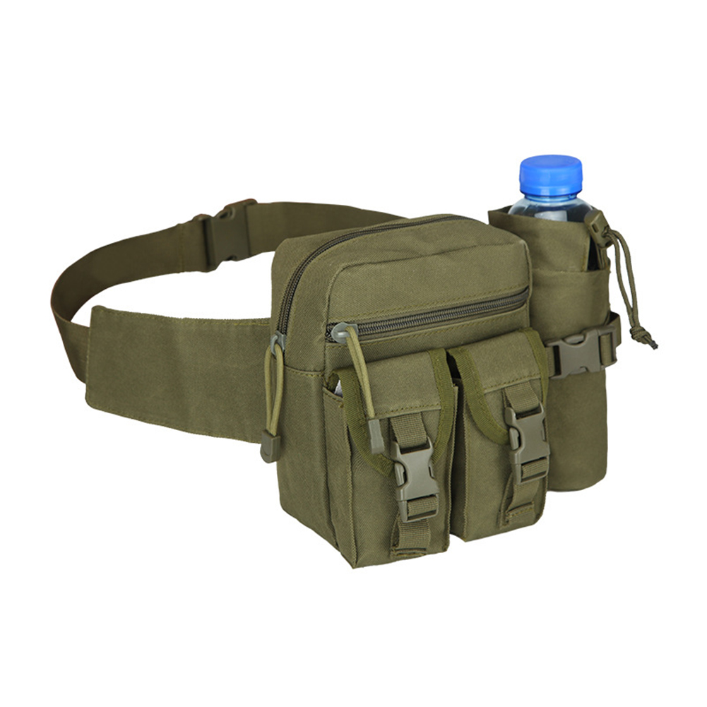 Practical Outdoor Travel Waist Bag Hiking Climbing Water Bottle Holding Waistbag Military Waist Pack Bags 600D Nylon Belt Bag