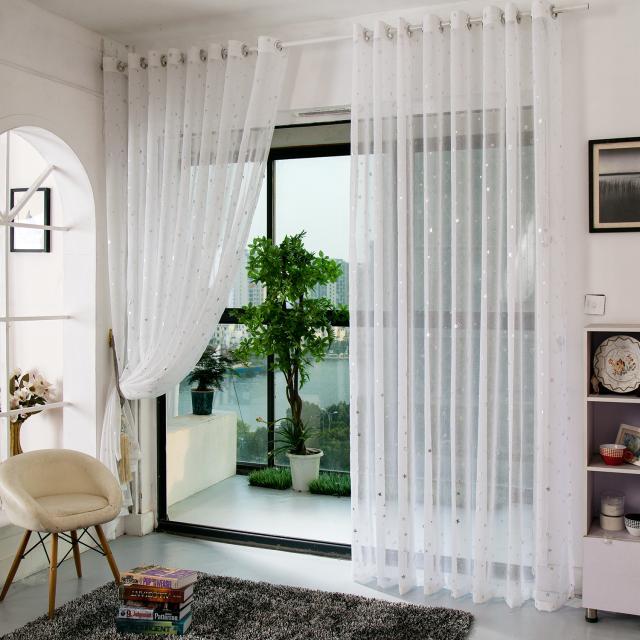 zhh estrellas de estilo sala de estar del dormitorio moderno cortina de ventana escarpada para