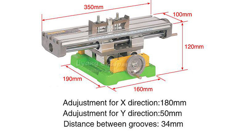 LY6350 Milling Machine Bench drill Vise Fixture worktable X Y-axis adjustment Coordinate table, free tax to Russia