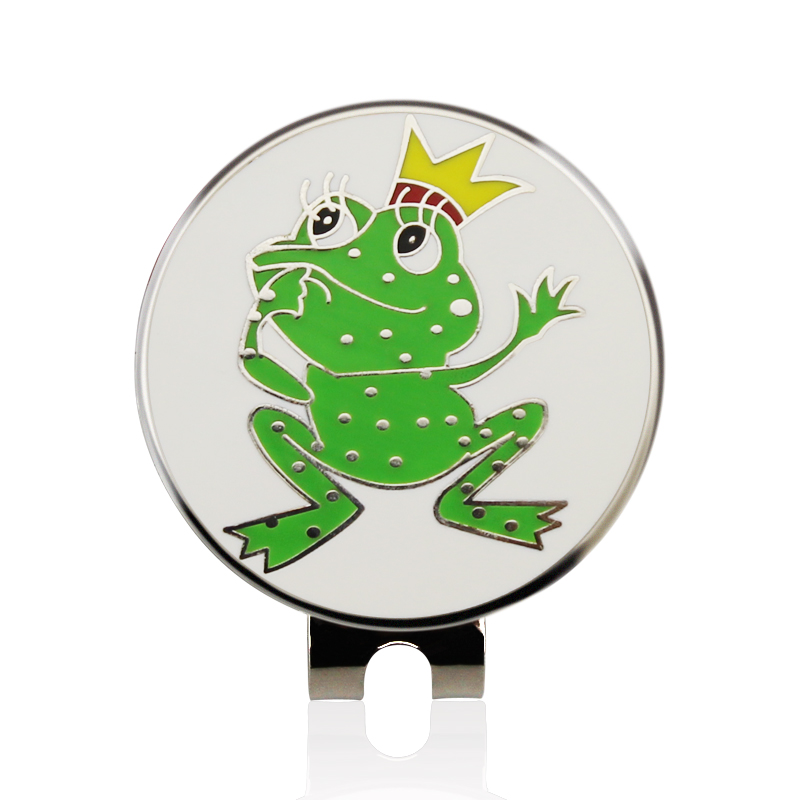 Frog Prince Golf Cap Clip Golf Ball Marker Alloy Professional 1.18