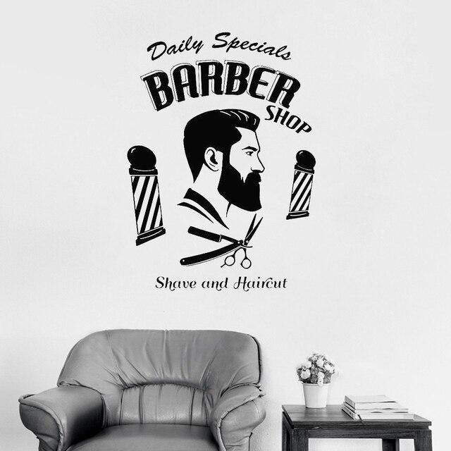 barbershop sign logo decals art
