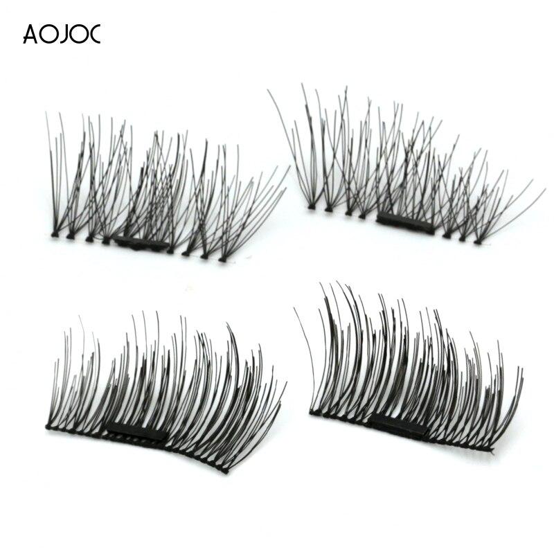 Magnetic Eyelashes False Eyelashes on magnets Reusable 3D Magnetic Extension Fake Eye Lashes Soft Easy To