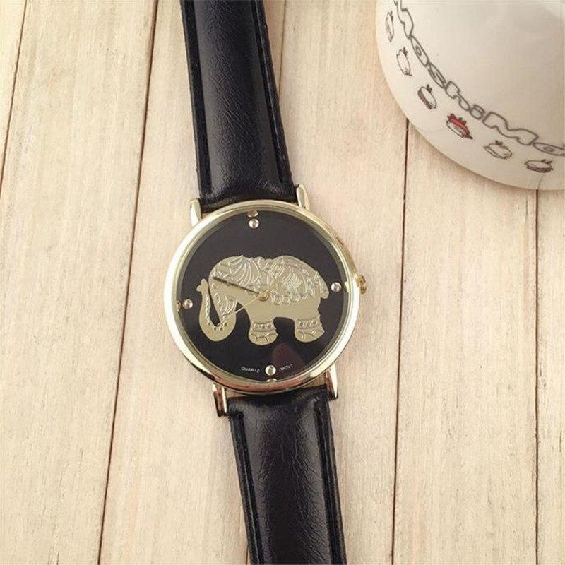 54c881a9aacf Femmes Elephant pattren En Cuir Bande Analogique Quartz Cadran  Montre-Bracelet Tout Neuf de Haute Qualité De Luxe Livraison Gratuite   270717