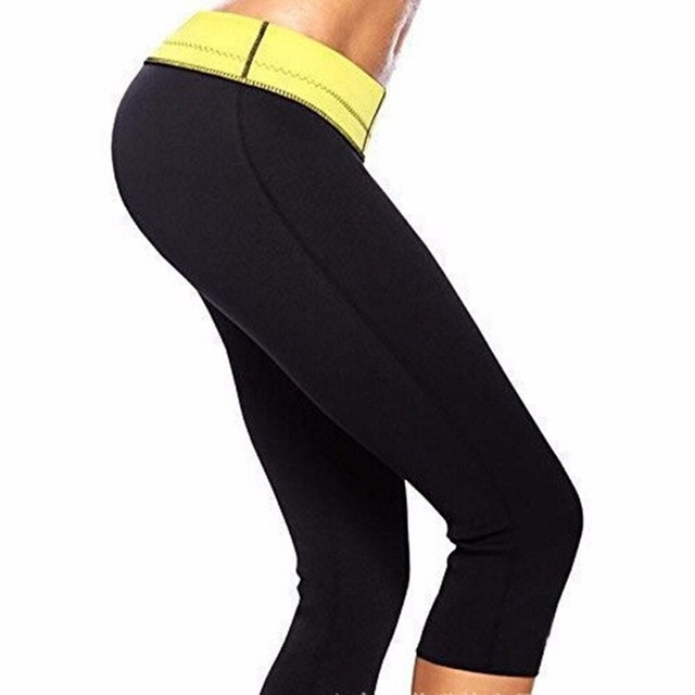 b39be84475d67 Black Super Stretch Women Hot Shapers Slim Control Pants Sweat Sauna  Neoprene Slimming Body Shaper S-XXXL Plus Size