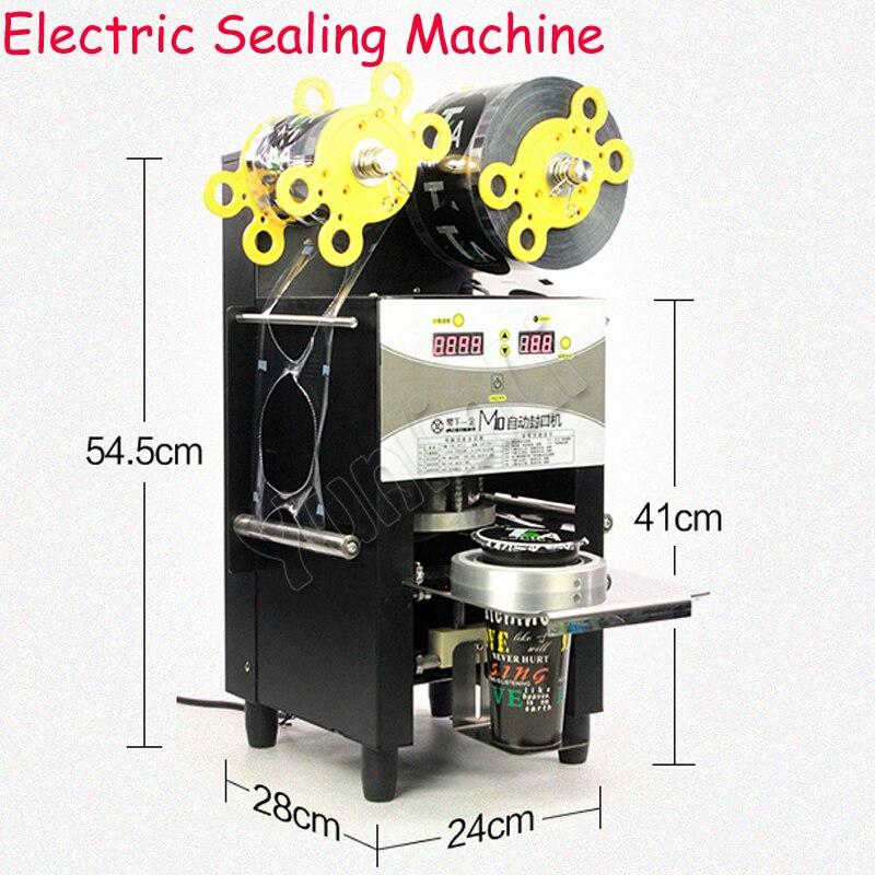 Автоматическая запайки коммерческое папе r & Пластик чашки полуавтоматическая запечатать машина молока Чай соевое молоко напитки уплотнен