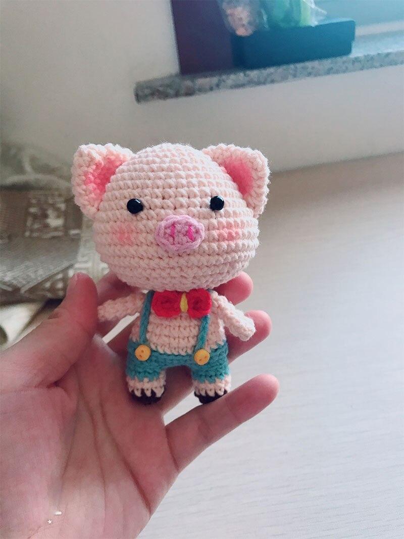 Easy crochet pig pattern amigurumi stuffed mini pig keychain | Etsy | 1067x800