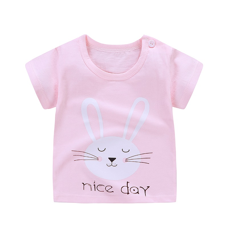 a8e5ab27d 1 6Y Kids Girl T Shirt Summer Baby Boy Cotton Tops Toddler Tees ...