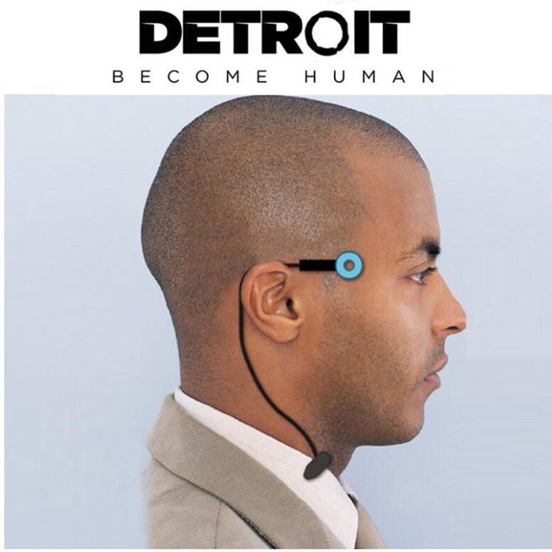 Game Detroit : Become Human Cosplay Connor Wireless Temple Led Light RK800 Status Light Props Accessories