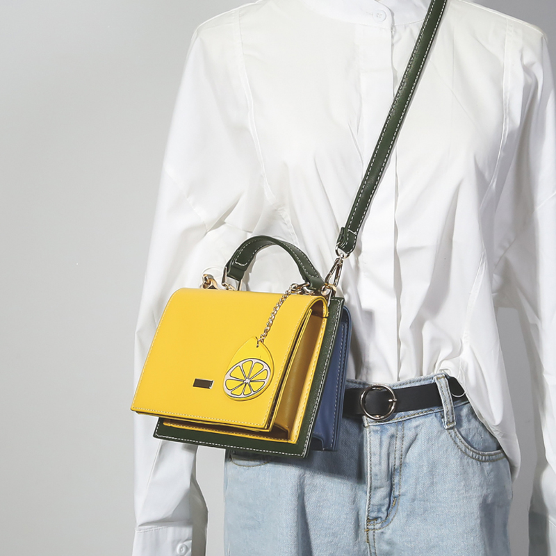2019 New Fashion Brand Women Bag High Quality PU Leather Shoulder Bag Female Hit Color Messenger Bag Women's Crossbody Bag 221