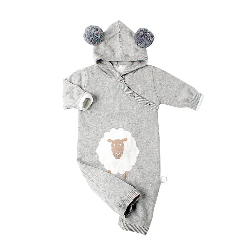 2018 Newborn Rompers Cartoon Style Baby Boys clothing Autumn Infant Jumpsuits Girl Boy Jumpers Kids Baby Outfits girls Clothes