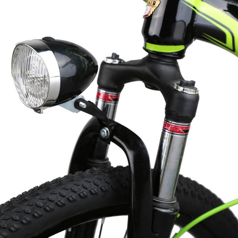 10ee8370d7d Retro Bicycle Bike 3 LED Front Light Headlight Vintage Flashlight Lamp  Torch Cycle Big Capacity Super Bright