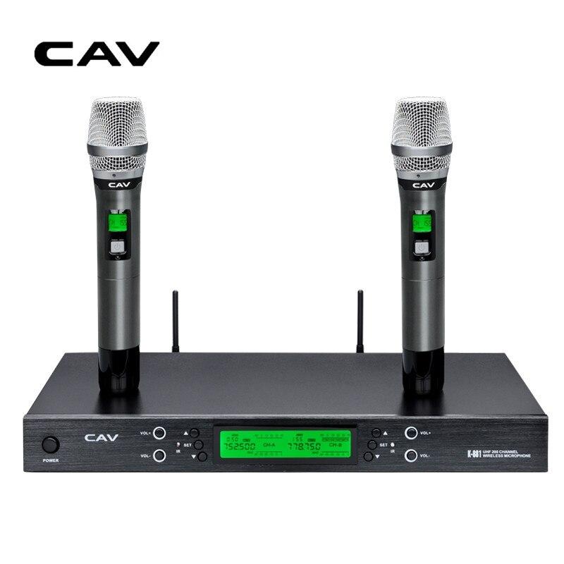 CAV K881 Microphones Transmitter Sets Wireless Cara OK KTV Meeting Handheld Dynamic Microphone Cardioid U-Band Smart Microphone niorfnio portable 0 6w fm transmitter mp3 broadcast radio transmitter for car meeting tour guide y4409b
