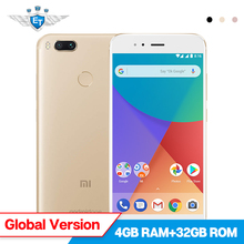 "Xiaomi Mi A1 32GB Global Version 4GB RAM Android One 5.5"" 1080P Snapdragon 625 Octa Core Smartphone Dual 12MP FCC Android 7.1"