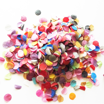 100Packs X 10g   Tissue Paper Confetti Rainbow Favors Colourful Star / Round / Love Heart  Multi-Coloured Wedding Decorations